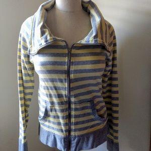 Calvin Klein Funnel Neck Striped Jacket. Size M